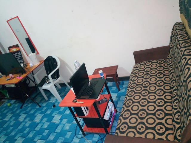 A private student's room in Ishaka-Bushenyi