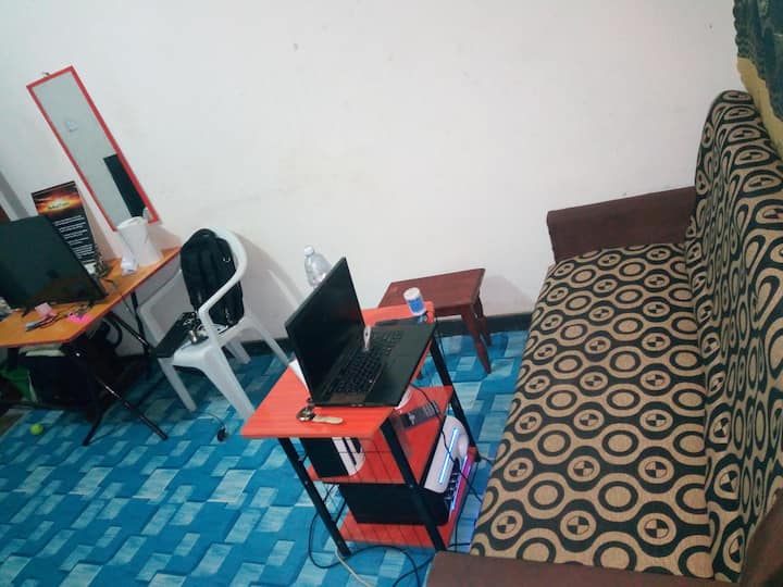 A private student's room in Ishaka-Bushenyi