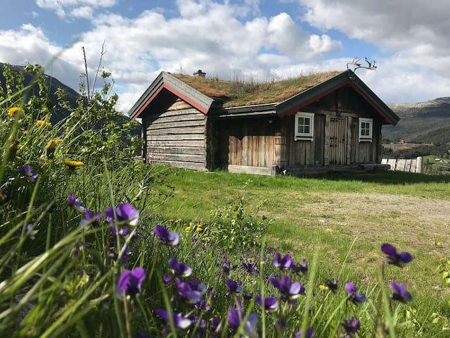 Hytte på sjarmerende fjellgård