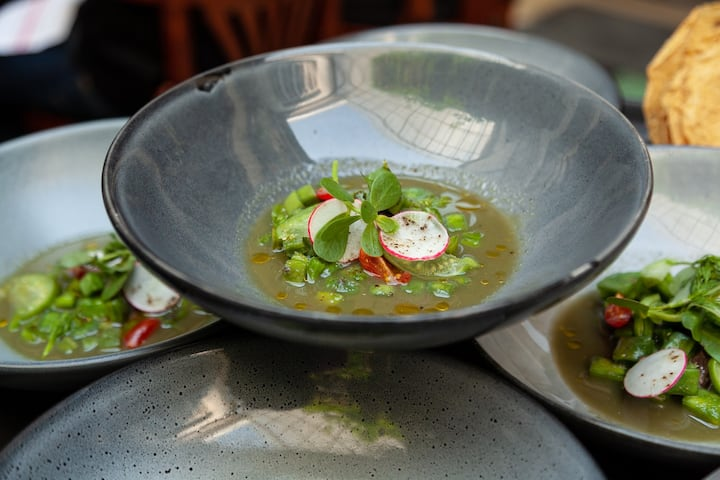 Ceviche with local produce