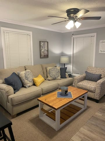 Comfortable couch to watch TV or take a much needed nap/rest from all your traveling