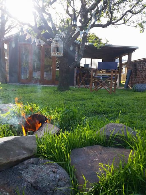 Your campfire in in the late afternoon.