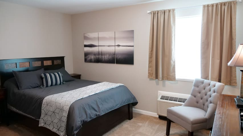 Simple hotel-style guest suite