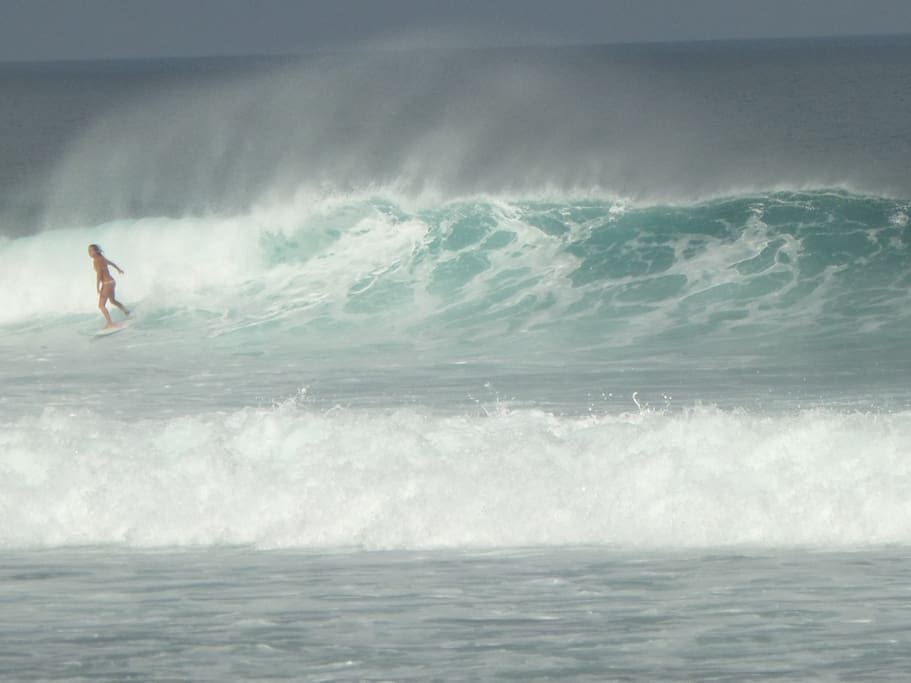 Surfing beach Balangan