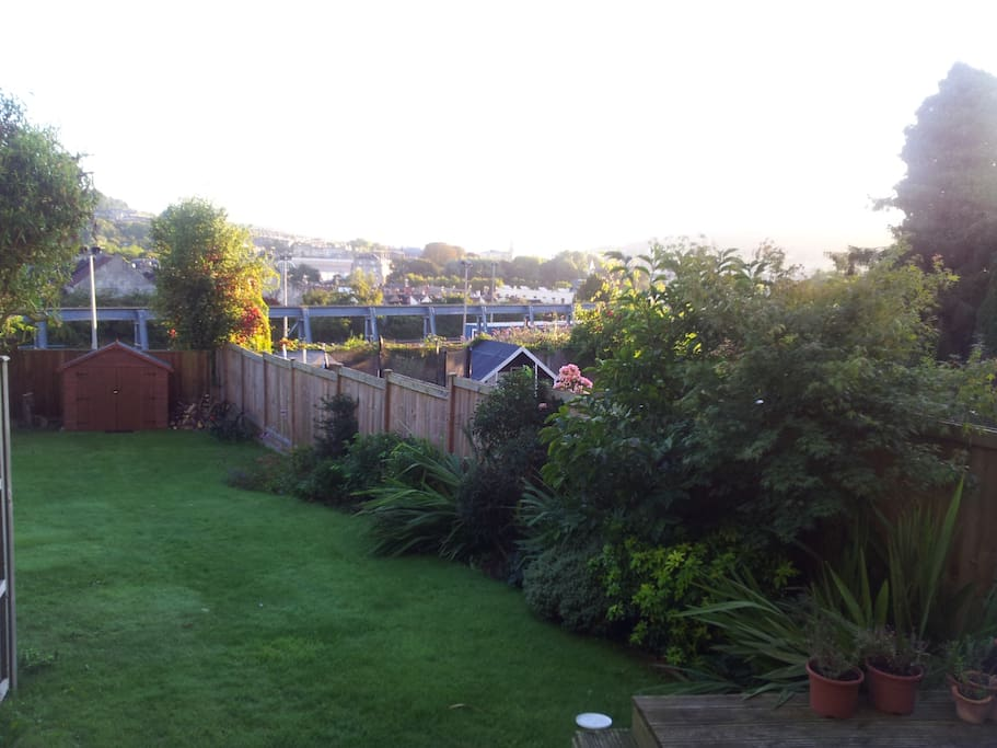Beautiful garden overlooking Bath.....can you spot the Royal Cresent and Bath Abbey?
