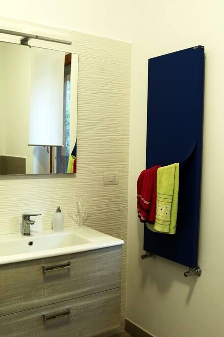Bathroom sink side