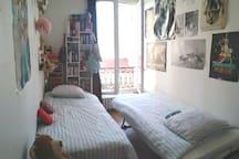 Chambre 2. 2 lits de 90x200