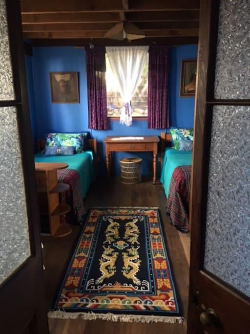 Silk carpet from Bhutan the Land of the Thunder Dragon