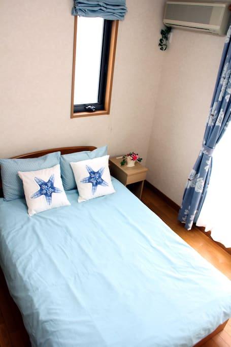 double bed in 140cm width