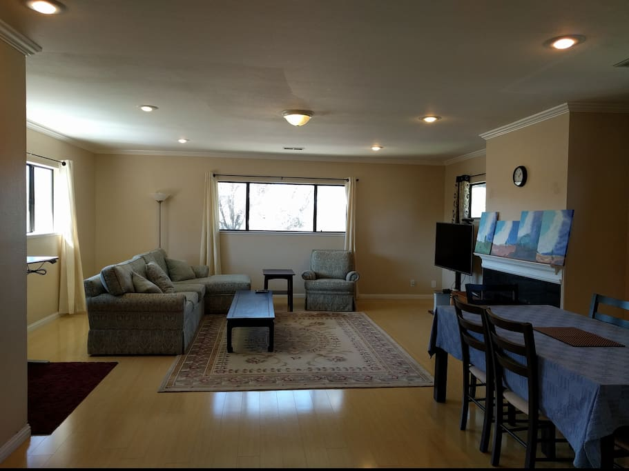 Full view of bright and spacious Living Room