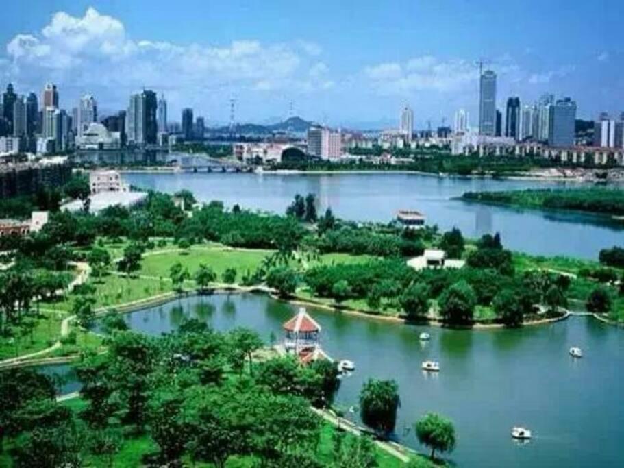 房源阳台观赏白鹭洲公园,筼筜湖