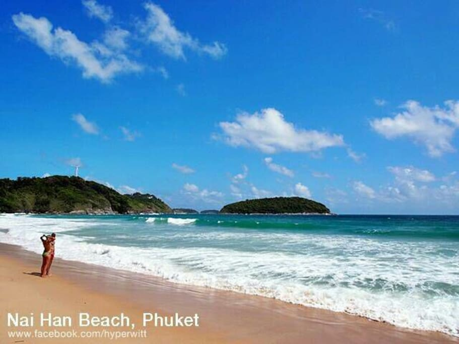 """""""Nai harn"""" beautiful long beach, with the panorama andaman sea , you will fond in love this beach :) , 5  mins drive from our house"""