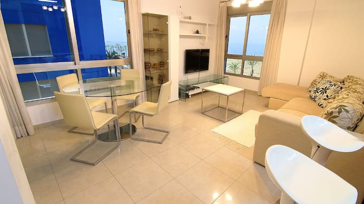Modern,sea view, located on the beach apartment