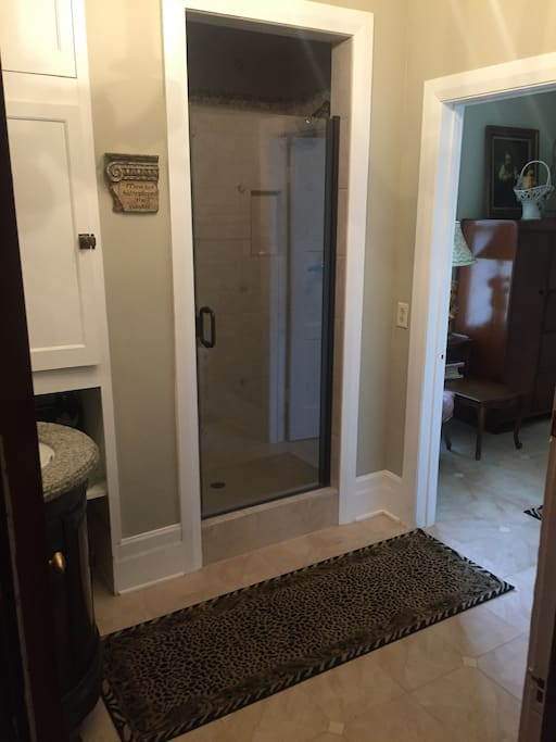 Despite it being the smallest room, it still has the luxury of its own private bathroom.