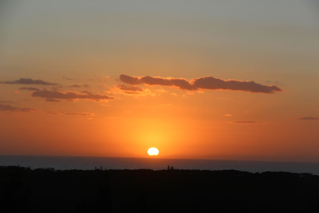 You can watch the sun rise or moon rise over the ocean!
