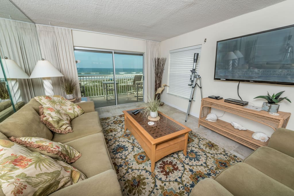 Beach comfortable living space with 60' LCD TV