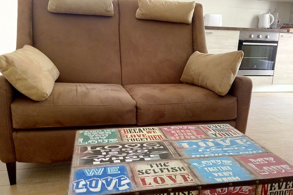 Italian-made sofa for extra comfort