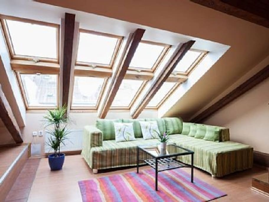 Skylights living room