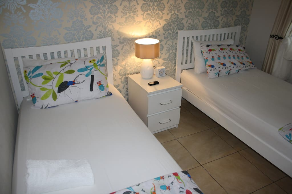Avocado Apt Bedroom 2 made up as a Twin