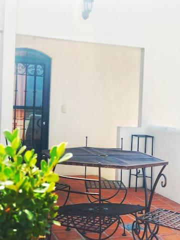 La habitación de la terraza en el Dulce Nombre