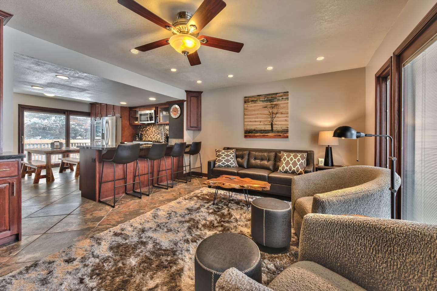 Completely Remodeled Condo with Three Levels - Main Level Living Room, Kitchen and Dining Area