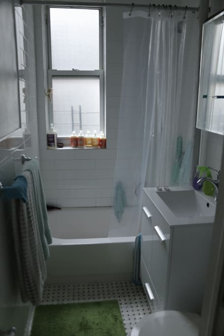 Natural light in bathroom with window for ventilation