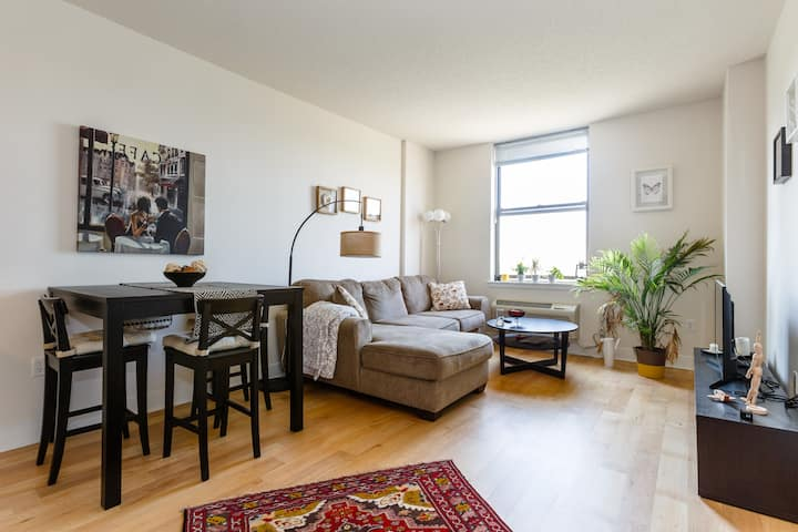 1bd apartment w/ statue of Liberty view