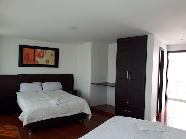 Hermosa habitación, 2 camas