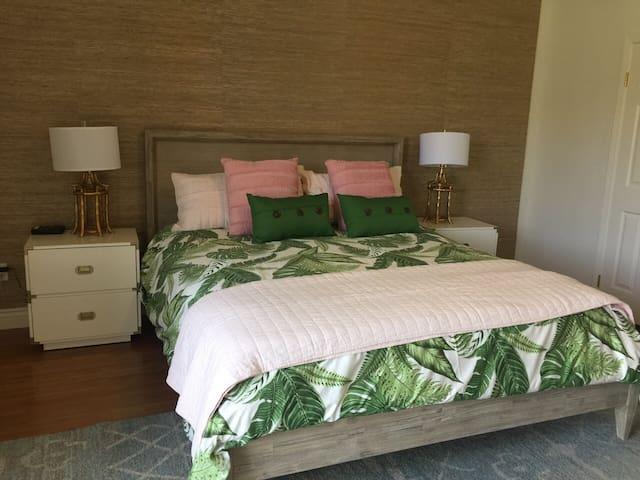 Master bedroom- new furniture, calif King mattress, linens