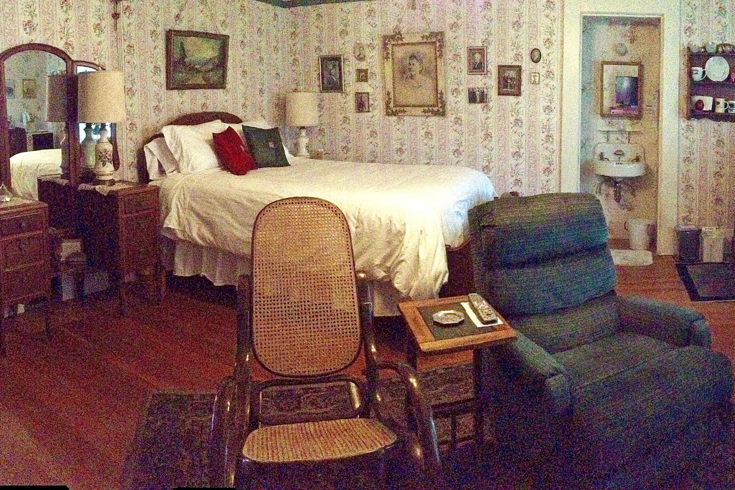 This is our Heritage Room with furniture and pictures of our family.