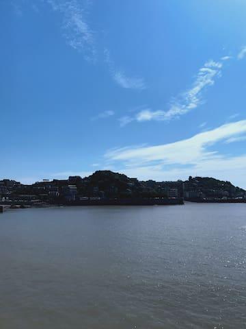玉环坎门东沙小渔村,纯自然海景房,看海,听海,享受一切自然!