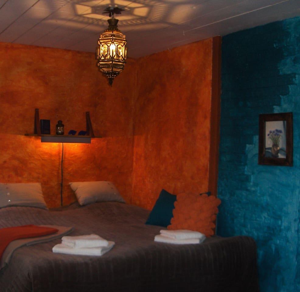 Här sover man skönt... sängarna går att dra isär om man så önskar...