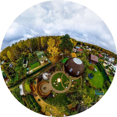 Unique eco dome house - Korolev - Talo