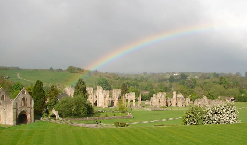 Easby Abbey from Easby Hall