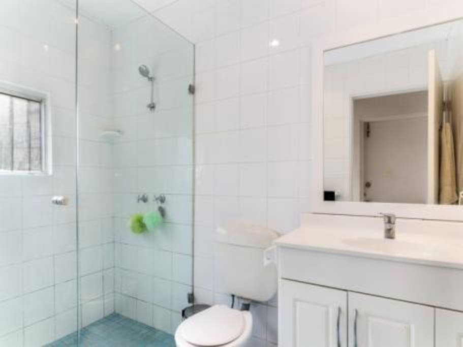 Large bathroom with fantastic natural light