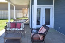 Patio & private entry to your suite.