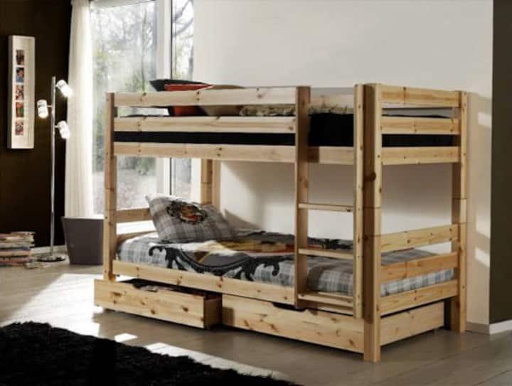 Le Nesk - Lit Simple dans un dortoir pour 6