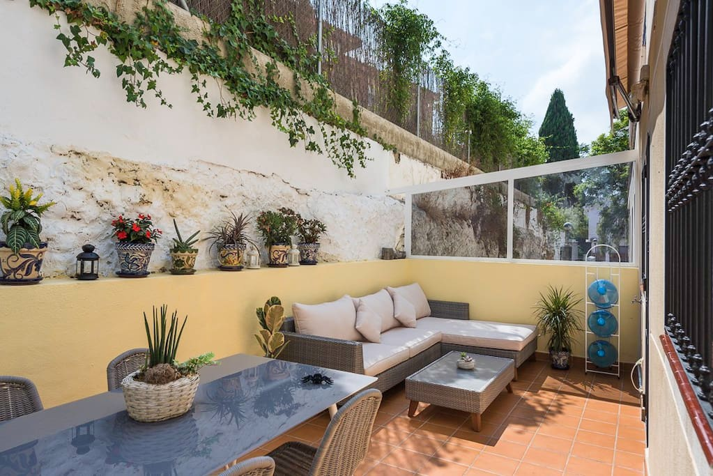 Terrace and chill-out area