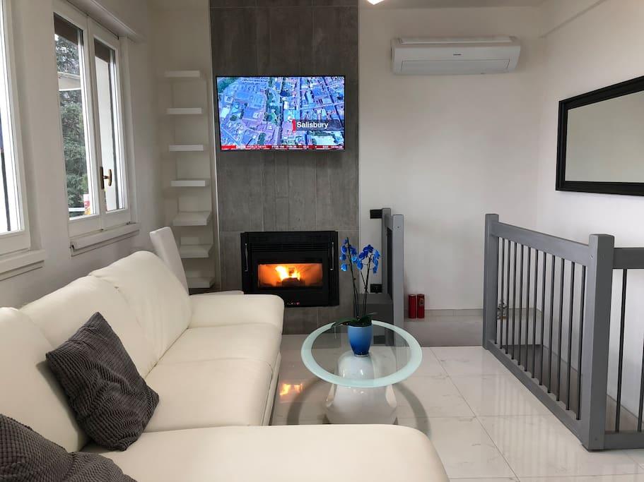 Fire place (pellet), Smart TV