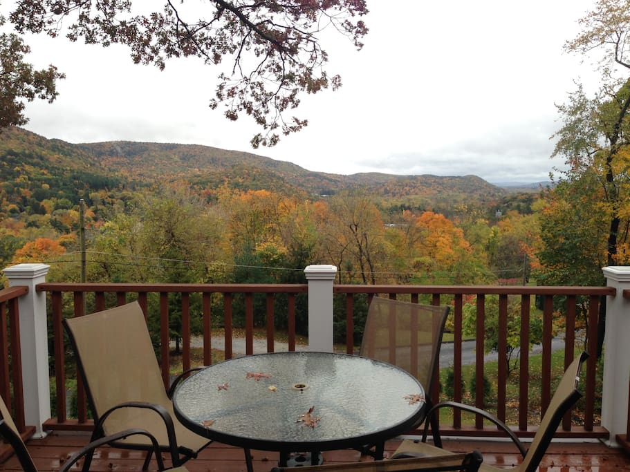 View from the deck during Autumn