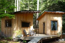 Three pods make up this unique cabin experience.