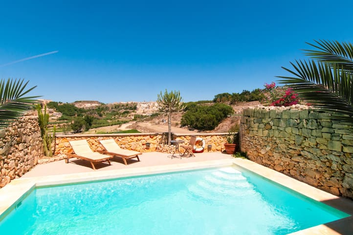 Your own pool with sun loungers & valley views