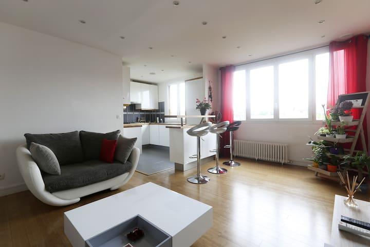 Appartement cosy à 15 mn de Paris