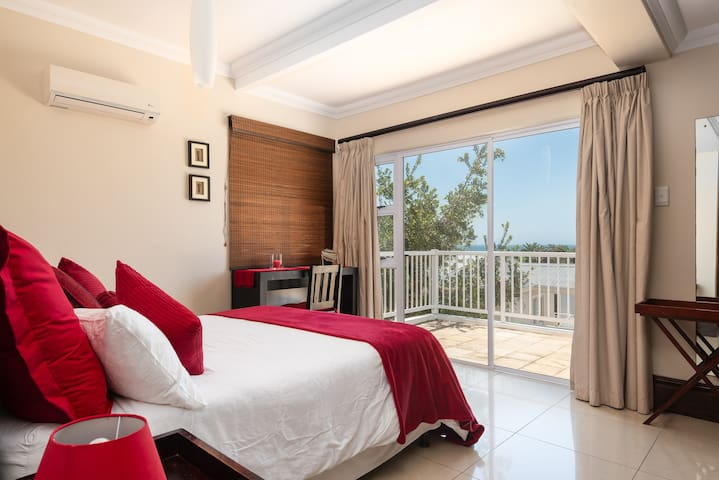Master bedroom with views to sea.