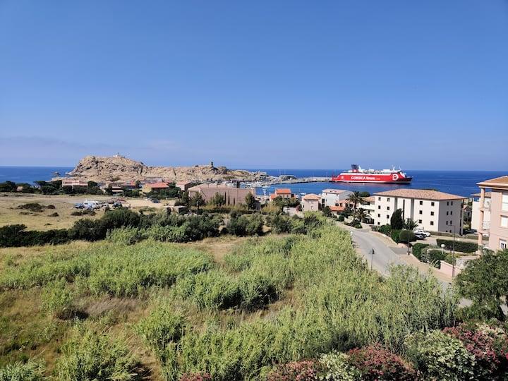 Appartement centre avec vue mer