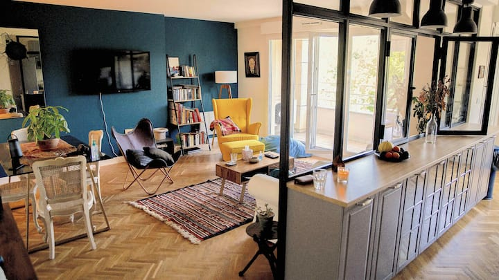 charming 75m², newly renovated, 10 mins from Paris
