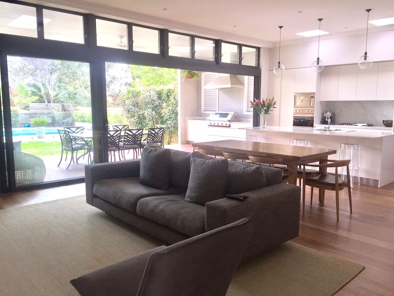 Large open plan living room