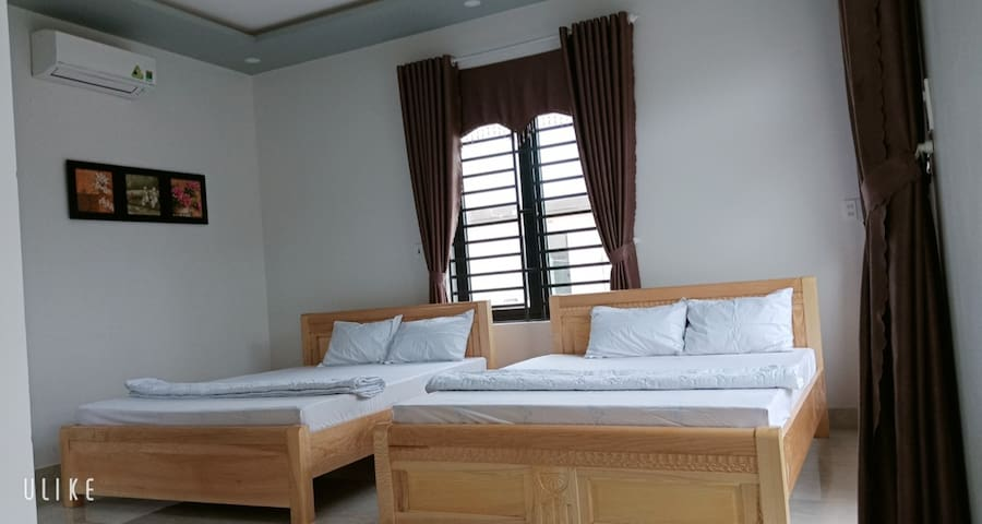 Budget private bedroom at Tam Thanh Mural Village