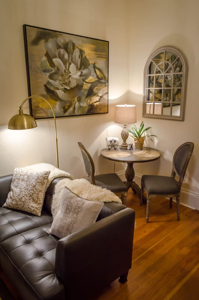 Dining area, perfect for working or sharing an intimate meal