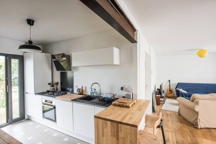 Maison années 60 rénovée à Auray (Sud Morbihan)